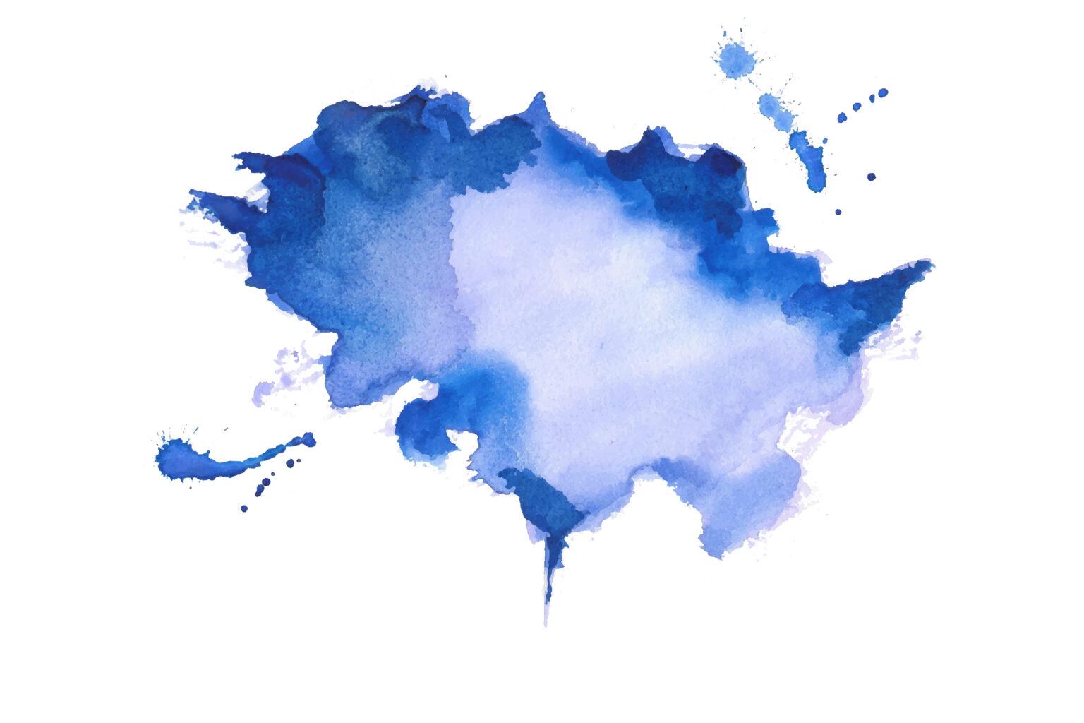 Acuarela azul abstracta