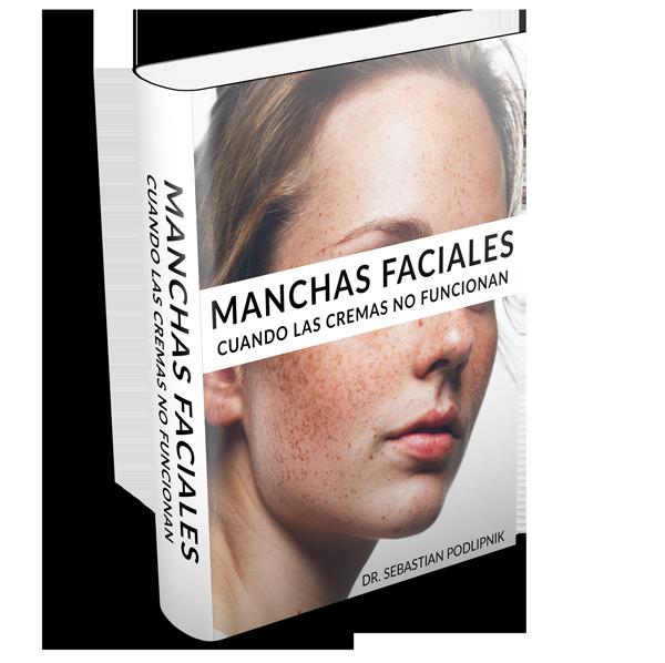 Mockup del libro de manchas faciales