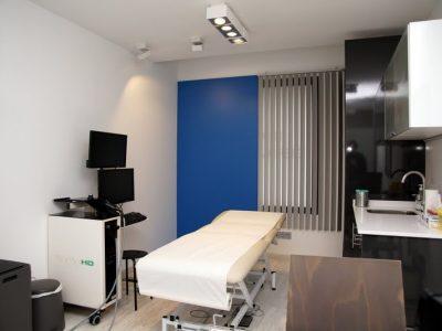 Sala de seguimiento digital de nevus en la clínica Diagnosis Dermatológica